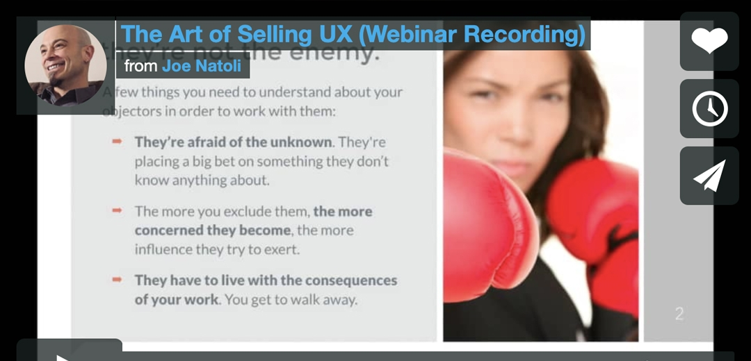 The Art of Selling UX Webinar