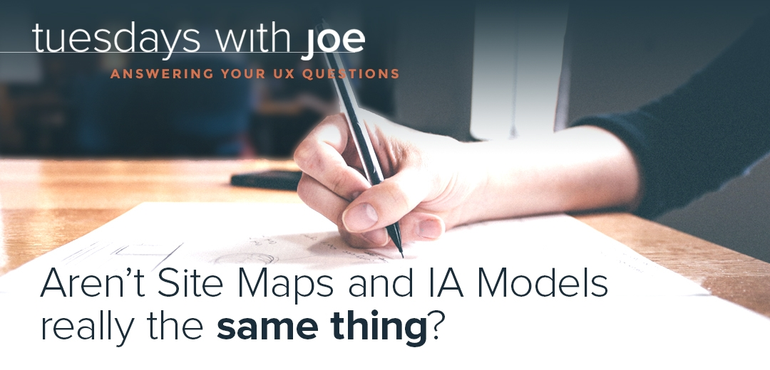 Aren't site maps and IA models the same thing?