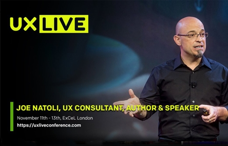 Joe Natoli is speaking at UX LIVE 2019 in London, England